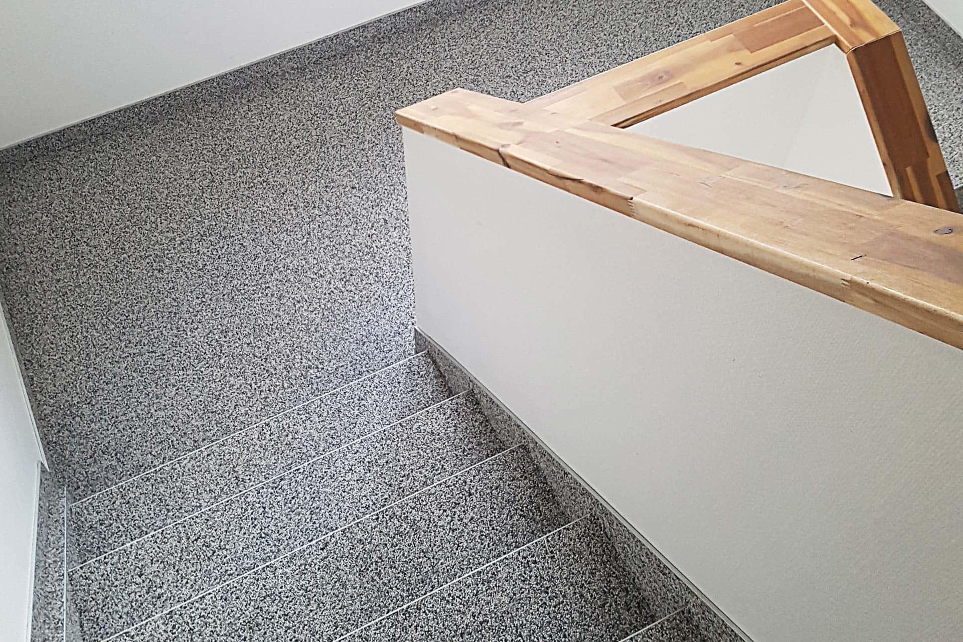 Treppensanierung und Terrassensanierung mit Steingranulat